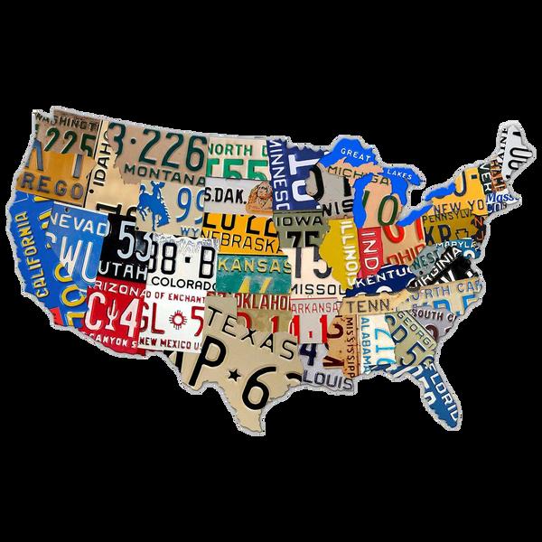 Bilde av License Plate Usa Map