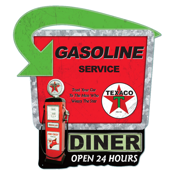 Bilde av Texaco Gasoline Service Diecut