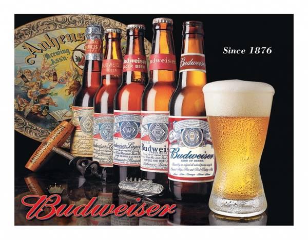 Bilde av Budweiser Bottle History
