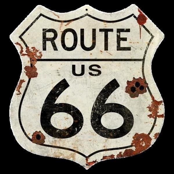 Bilde av Route US 66 Grunge Shield