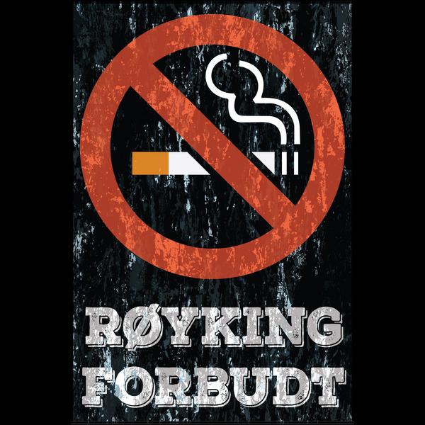 Bilde av Røyking Forbudt Vintage A4