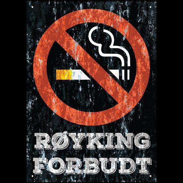 Bilde av Røyking Forbudt Vintage A3
